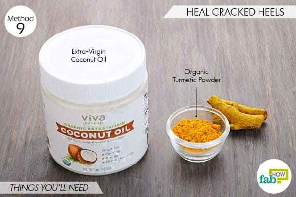 Use turmeric for beauty-to heal cracked heels