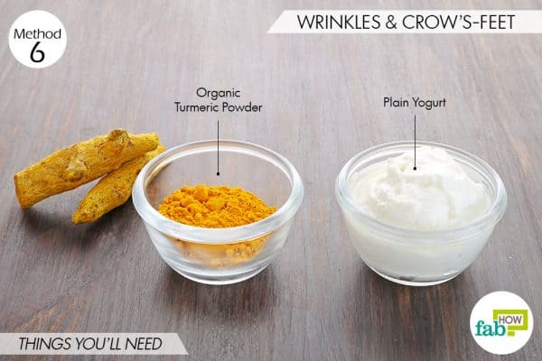 Use turmeric for beauty-to get rid of wrinkles and crow's feet