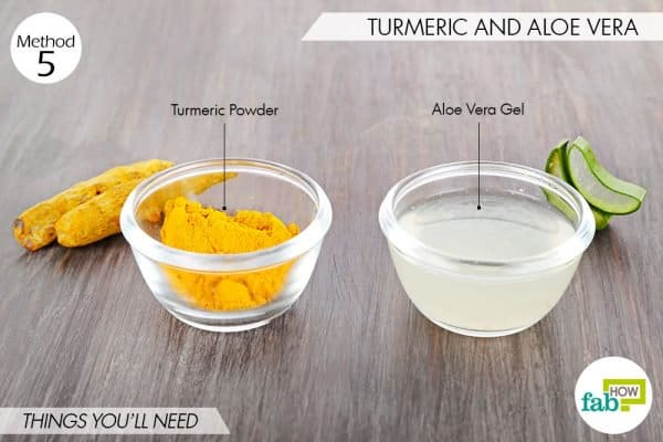 Things needed to use turmeric for folliculitis with aloe vera