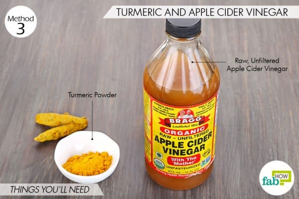 Things needed to use turmeric for folliculitis with apple cider vinegar