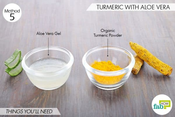 Things needed to use turmeric for eczema with aloe vera