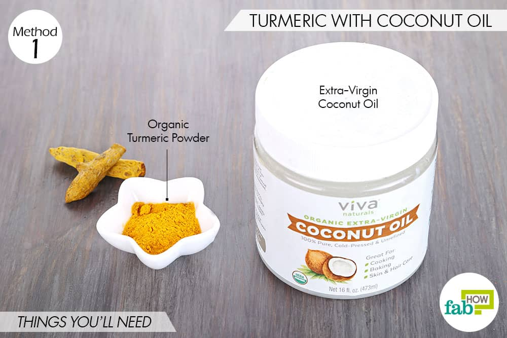 Things needed to use turmeric for eczema with coconut oil