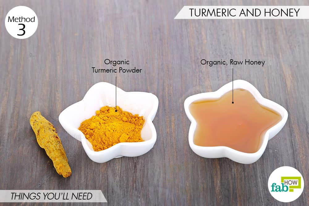 things needed to use turmeric to get rid of scars with honey