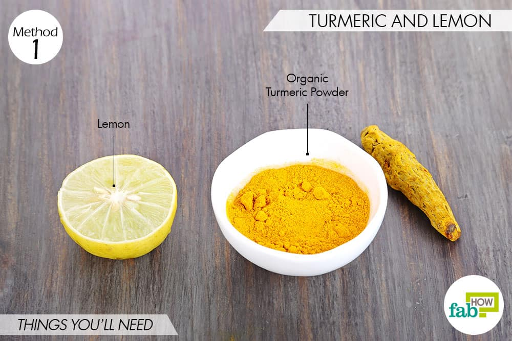 things needed to use turmeric to get rid of scars with lemon