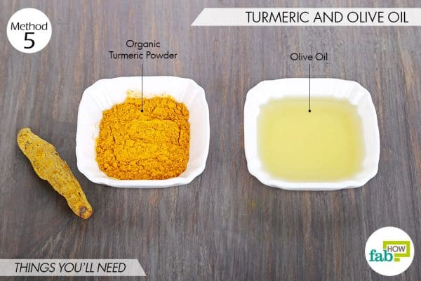 things needed to use turmeric to get rid of scars with olive oil