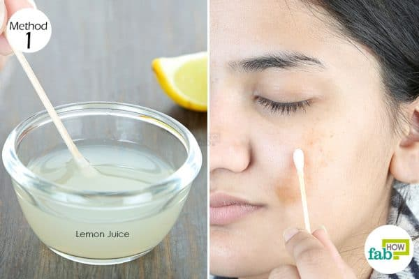 use lemon to get rid of dark spots