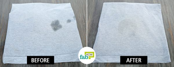 clean food grease stains from clothes with baking soda