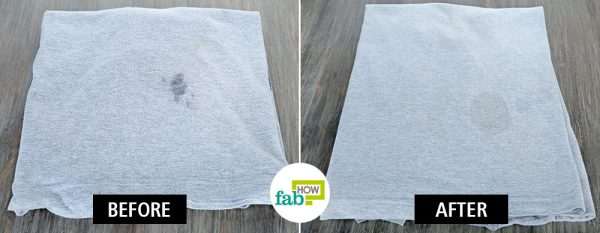clean food grease stains from clothes using eucalyptus oil