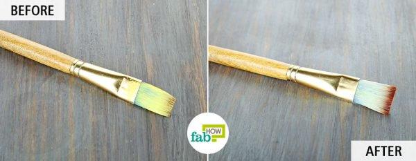 use kerosene to clean paintbrushes
