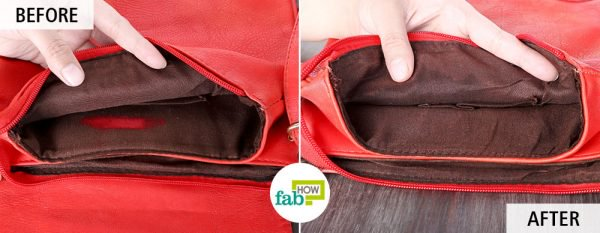 use liquid dish soap to remove lipstick stains from purse