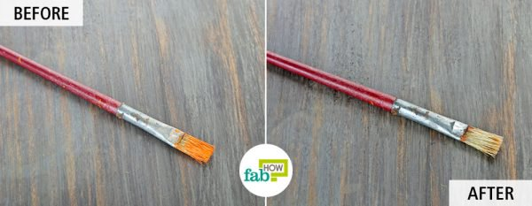 use turpentine oil to clean paintbrushes