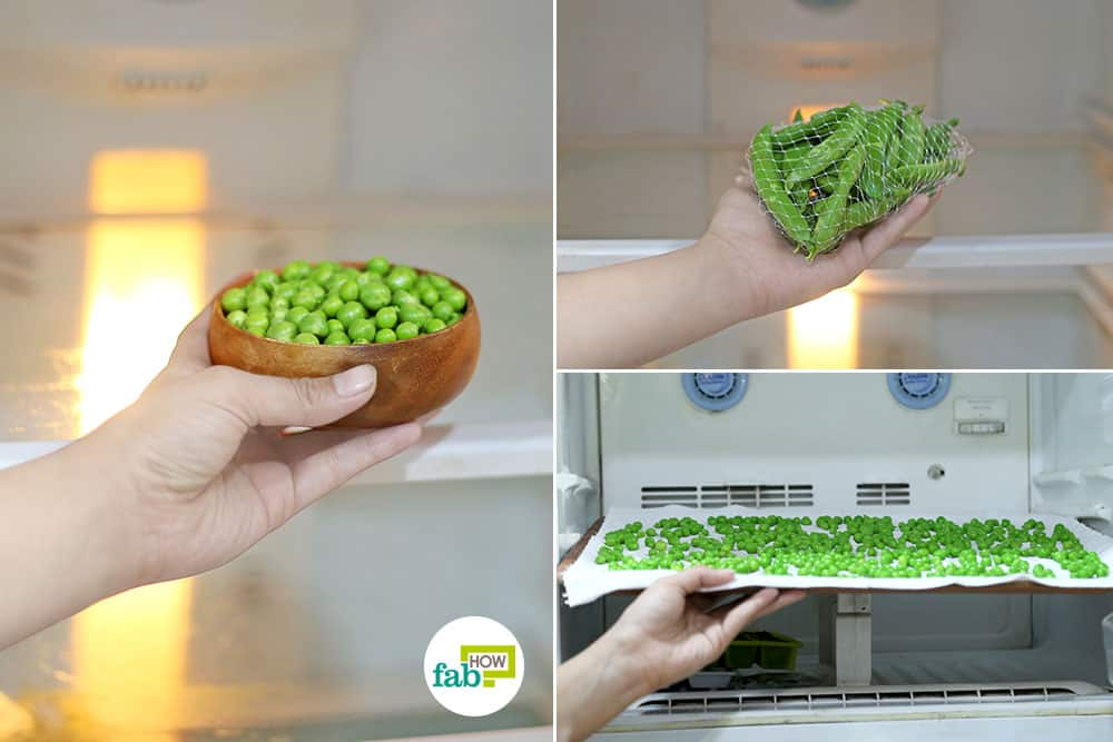 how to store green peas