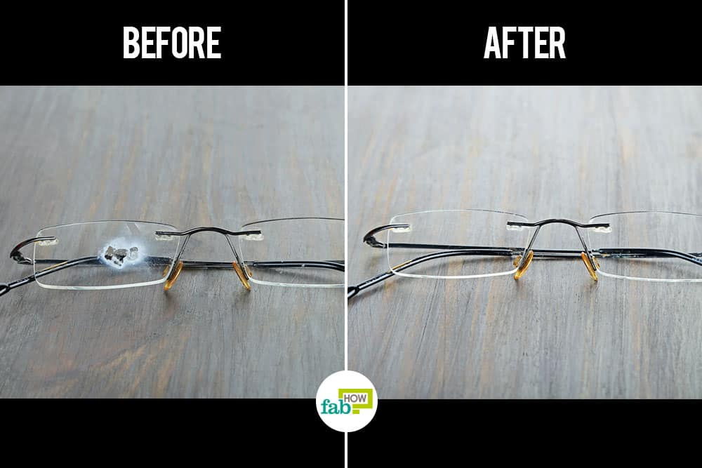 how to remove superglue from eyeglasses