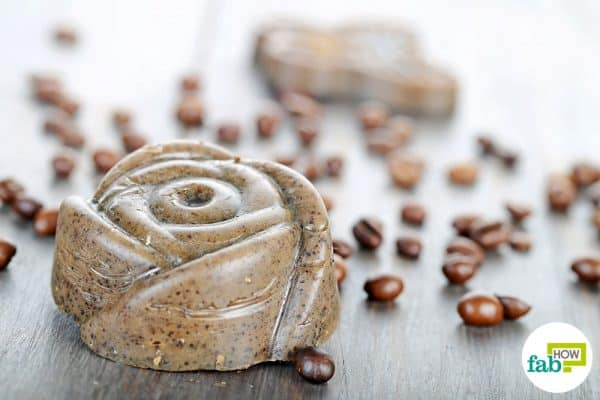 make DIY goat milk soap using coconut oil and coffee grounds