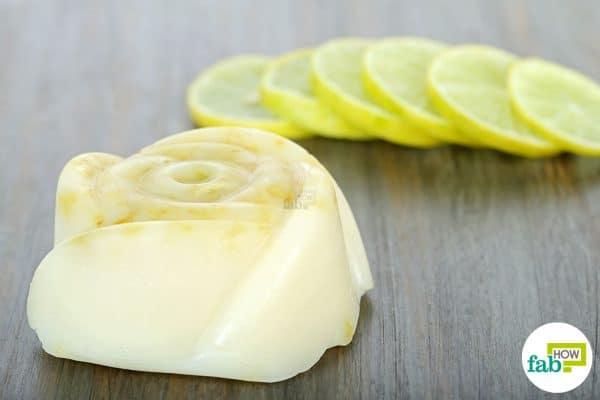 make DIY goat milk soap using lemon zest and lemon essential oil
