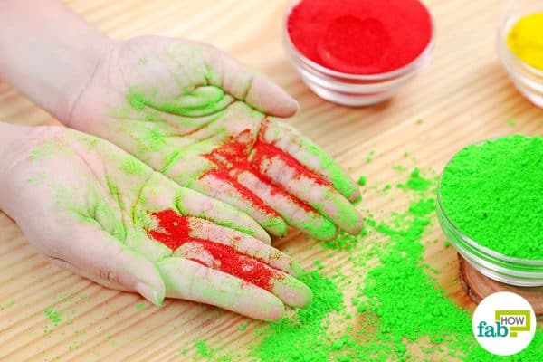 final make DIY Holi colors with food coloring