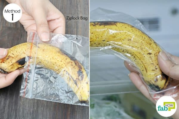 freeze the overripe fruit in ziplock bags to store bananas