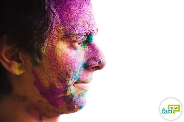 intro remove Holi color from skin