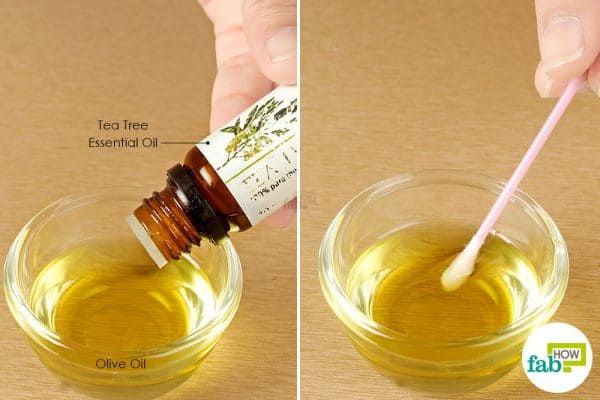 mix and apply tea tree and olive oil to treat impetigo-use tea tree oil for bacterial infections