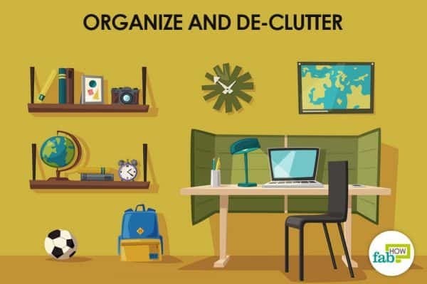 organize and de-clutter to stay calm