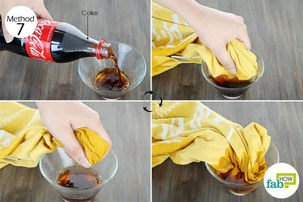 clean food grease stains from clothes with Coke