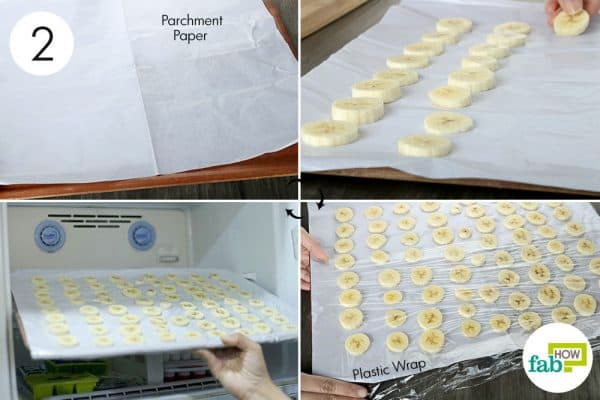 freeze the slices to store bananas