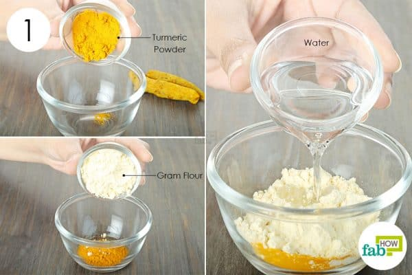 use turmeric for skin lightening with gram flour