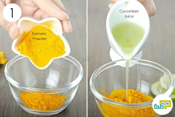 use turmeric for oily skin with cucumber juice