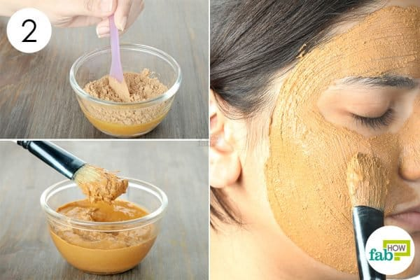 mix and apply to use turmeric for oily skin