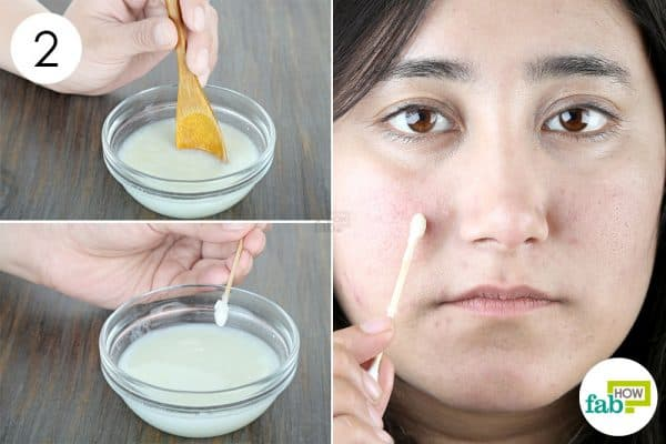mix well and apply to use lemon to get rid of dark spots with yogurt