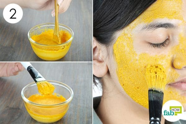 blend well and apply to use turmeric for skin lightening