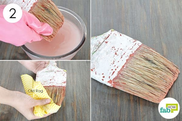 rinse with water and wipe dry to clean paintbrushes