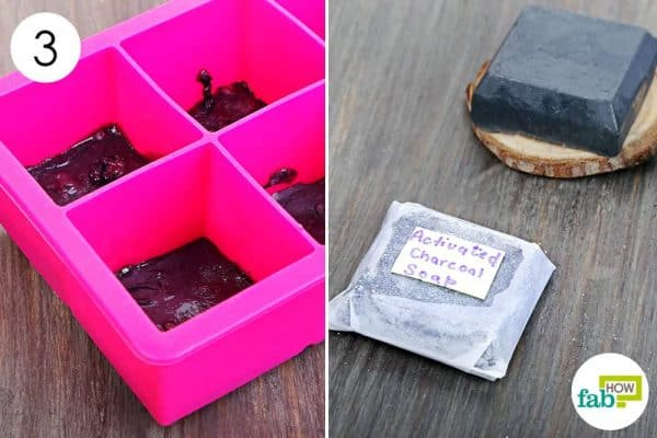 solidify the soap to make DIY goat milk soap using activated charcoal