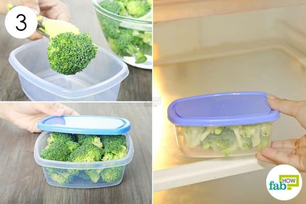 refrigerate in an airtight box to store broccoli