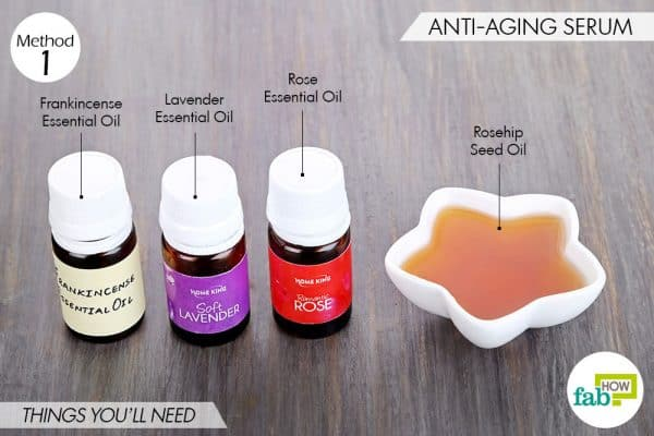 things needed to make DIY face serum-anti-aging