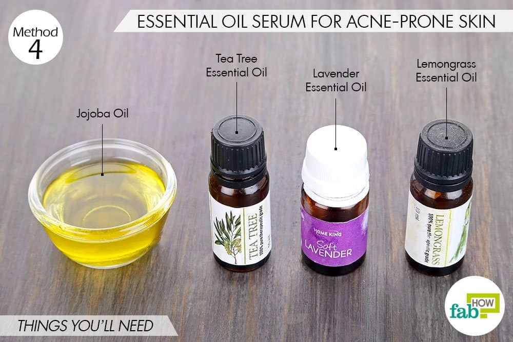 things needed to make DIY face serum with essential oils
