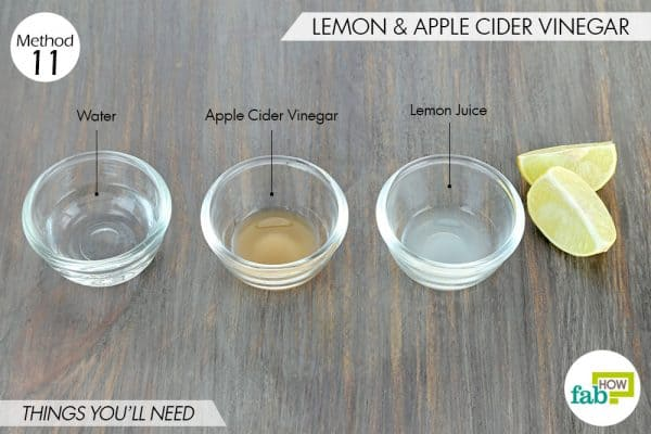 things needed to use lemon to get rid of dark spots with apple cider vinegar