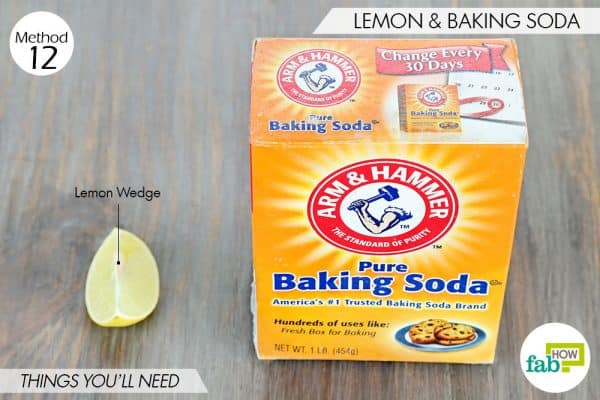 things needed to use lemon to get rid of dark spots with baking soda