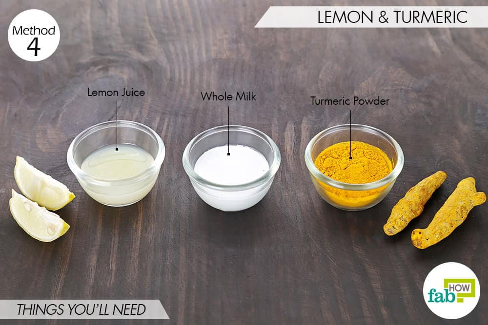 things needed to use lemon to get rid of dark spots with turmeric