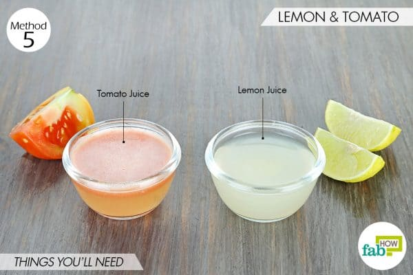 things needed to use lemon to get rid of dark spots with tomato