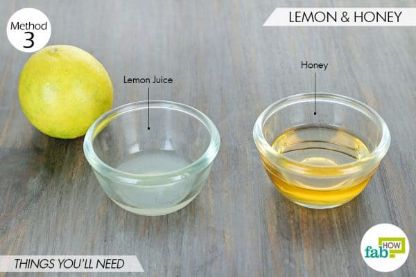 things needed to use lemon to get rid of dark spots with honey
