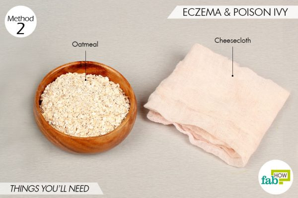 things needed to use oatmeal for skin conditions-eczema and poison ivy