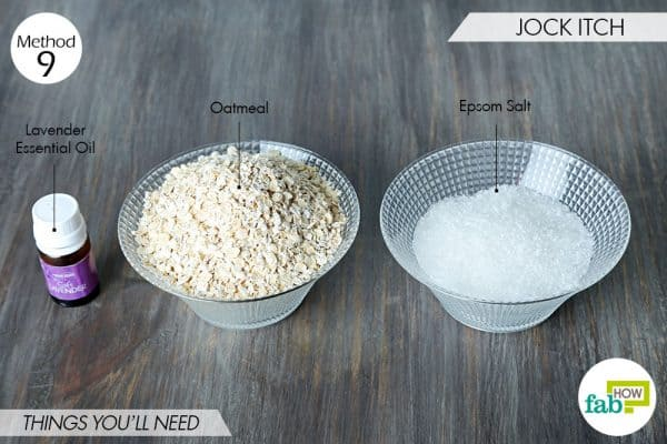 things needed to use oatmeal for skin conditions-jock itch