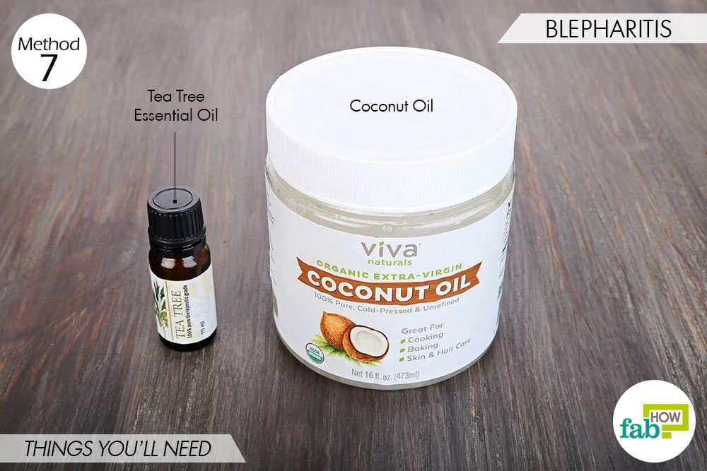 things needed to use tea tree oil for bacterial infections-to treat blepharitis