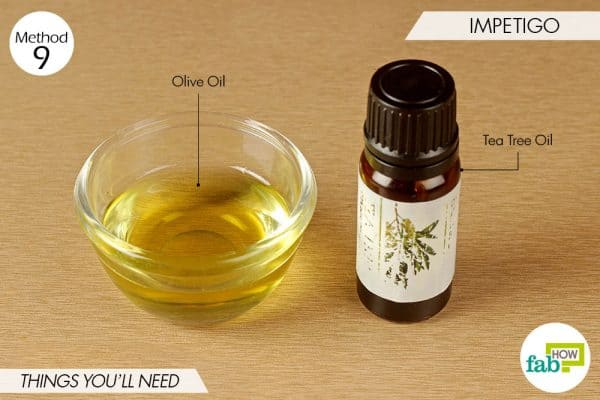 things needed to use tea tree oil for bacterial infections-to treat impetigo
