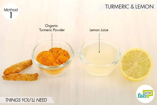 things needed to use turmeric for skin lightening with lemon