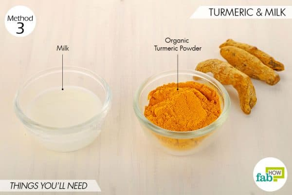 things needed to use turmeric for skin lightening with milk