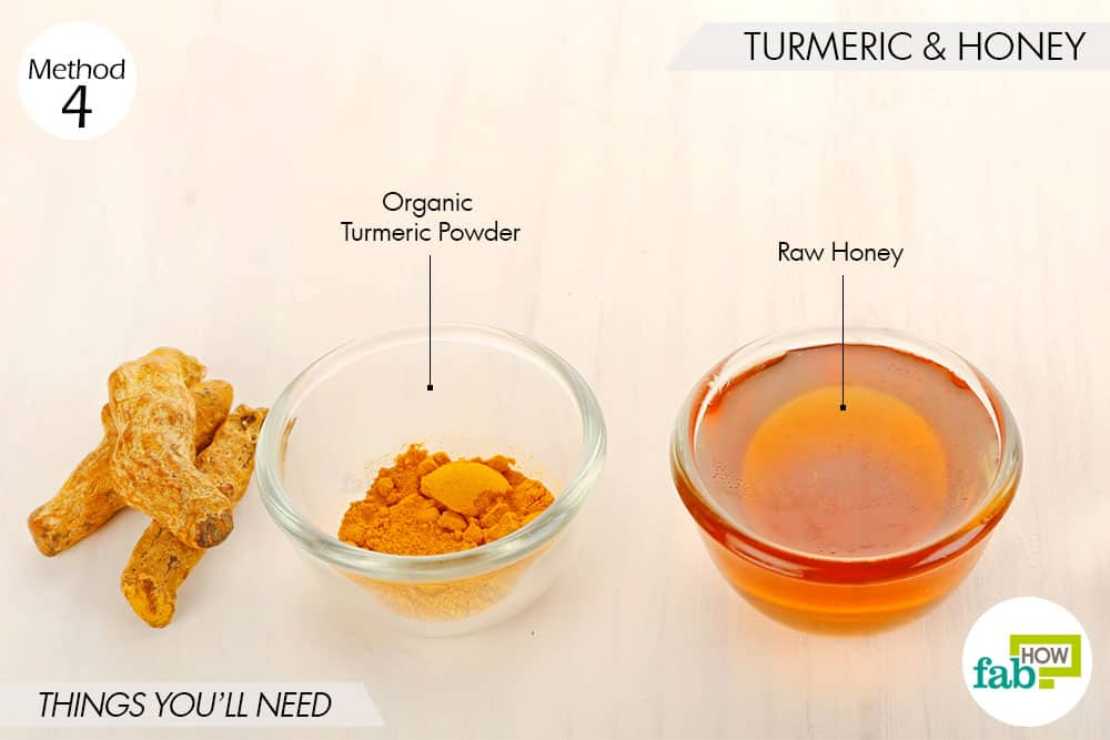 things needed to use turmeric for skin lightening with honey