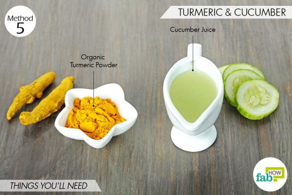things needed to use turmeric for skin lightening with cucumber