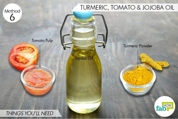 things you need to make a turmeric mask for skin lightening